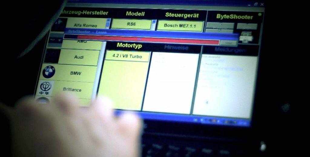 Bild Laptop mit einem Programm zur Optimierung